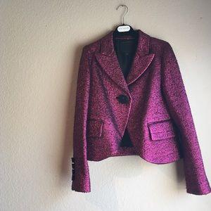Marc Jacobs Purple Metallic Blazer
